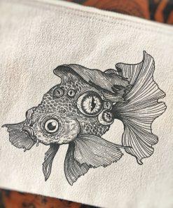 pochette coton imprimée